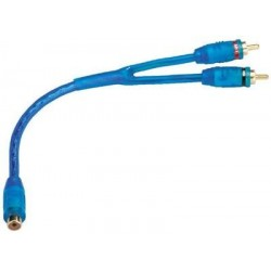 Audio Y Cable Adapters Carpower Monacor CPR-25 BL