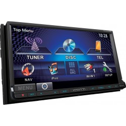 "Receiver multimedia 7.0"" WVGA 2DIN Monitor cu DVD/USB & Bluetooth incorporat DDX-6023BT Kenwood"