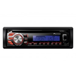 RDS Tuner, Illuminated Front USB si Aux-In, si WMA/MP3/WAV Playback, Pioneer DEH-1600UBB