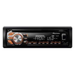 RDS Tuner, Illuminated Front USB (amber), Aux-In + WMA/MP3/WAV Playback, Pioneer DEH-1600UBA