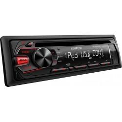 CD player auto cu USB, control i-Pod/i-Phone si tasta iluminare rosu, Kenwood KDC-261UR