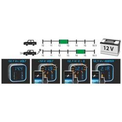Adaptor USB auto & masurare Volti-Amperi, Sal SA 046