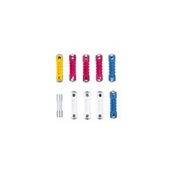 Set 10 biti (sigurante), forma cilindrica, plastic + sticla, Sal 90298