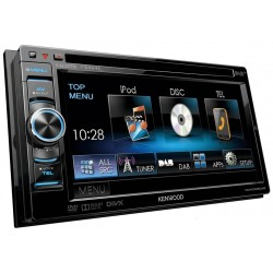 "Receiver multimedia 2DIN, 6.1"" WVGA monitor, multimedia USB/DVD/DAB-receiver & Bluetooth incorporat, Kenwood DDX-5025DAB"