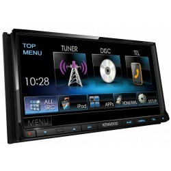 "Receiver multimedia 7.0"" WVGA, DVD si bluetooth incorporat, Kenwood DDX-7025BT"