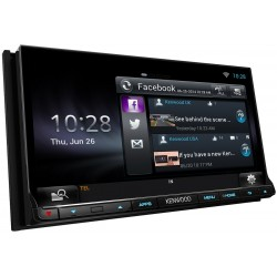 "Receiver multimedia 2DIN, 6.1"" WVGA monitor, DVD/USB, WiFi & Bluetooth incorporat, Kenwood DNR-8025BT"